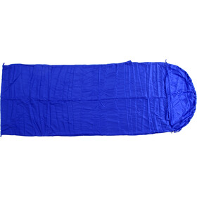 Basic Nature Silk Sleeping Bag Liner Blanket Shape, royal blue